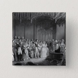 Marriage of Queen Victoria  and Prince Albert 15 Cm Square Badge