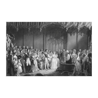 Marriage of Queen Victoria  and Prince Albert Canvas Print