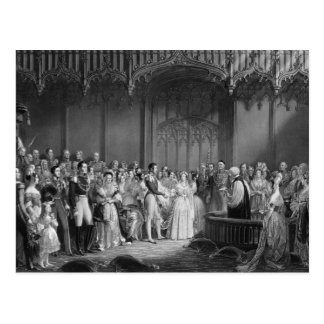 Marriage of Queen Victoria  and Prince Albert Postcard