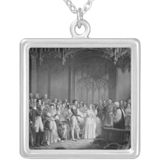 Marriage of Queen Victoria  and Prince Albert Silver Plated Necklace
