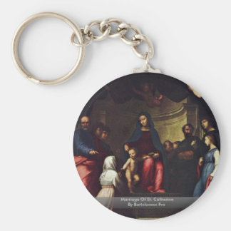 Marriage Of St Catherine By Bartolomeo Fra Keychains
