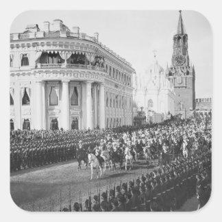 Marriage of Tsar Nicholas (1868-1918) to Alexandra Square Sticker