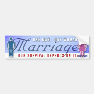 "Marriage ""One Man... One Woman"" Bumper Sticker"