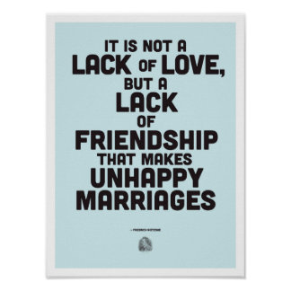 Marriage philosophy quote Poster