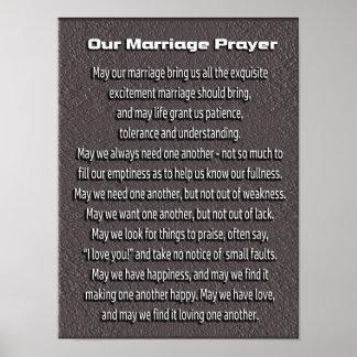 Marriage Prayer -- art poster