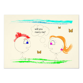 Marriage proposal by Lili - MARRY ME 13 Cm X 18 Cm Invitation Card