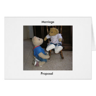 Marriage Proposal Greeting Card