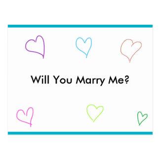 Marriage proposal postcard