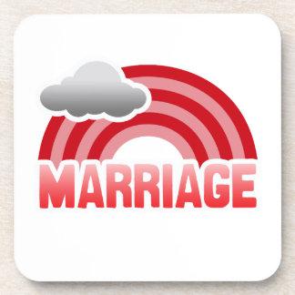 MARRIAGE RAINBOW COASTERS