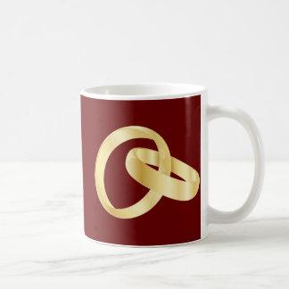 Marriage rings wedding ring basic white mug