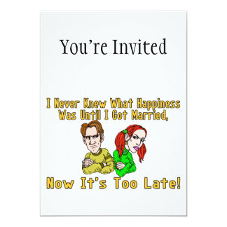 Marriage Ruined Happiness 13 Cm X 18 Cm Invitation Card