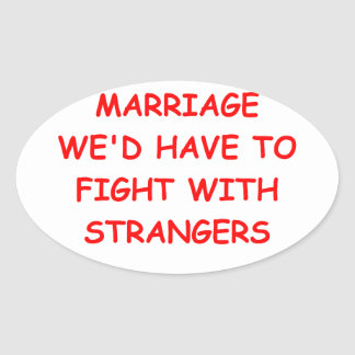 MARRIAGE OVAL STICKER