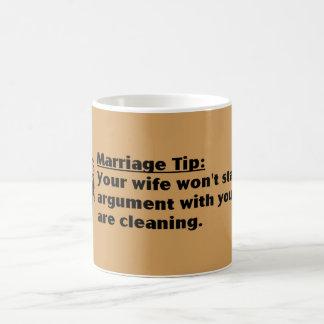 marriage tip fun mug