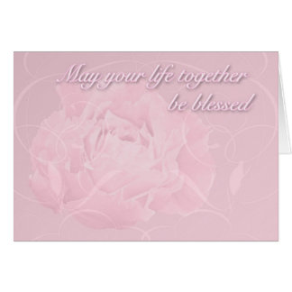 Marriage Wishes Blessings - Pink Peony Greeting Card