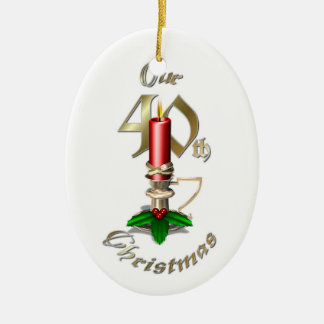 Married 40th Christmas Ornament