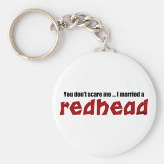 Married a Redhead Key Ring