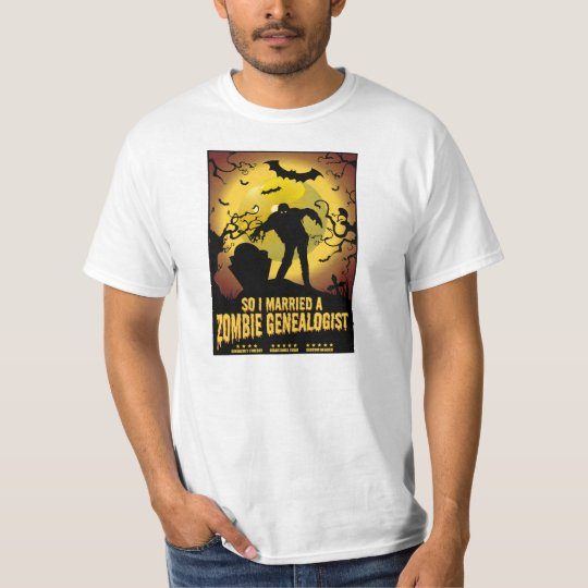 Married A Zombie Genealogist T-Shirt