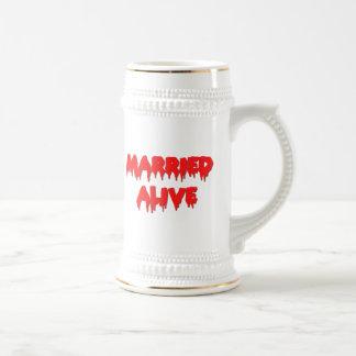 Married Alive Beer Stein