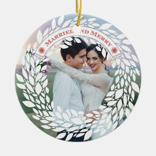 Married and Merry Christmas Ornament