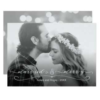 Married and Merry First Christmas Photo Card