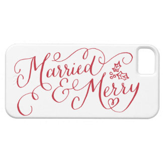 Married and Merry Hand Lettered Case For The iPhone 5