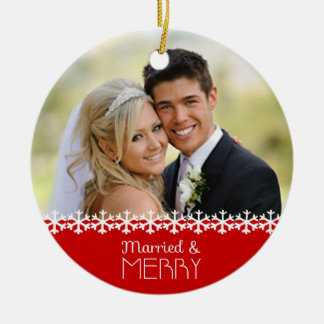 Married and Merry Holiday Ornament