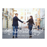 Married and Merry Holiday Photo Card Custom Invitations