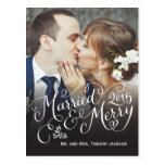 Married and Merry Holiday Postcard