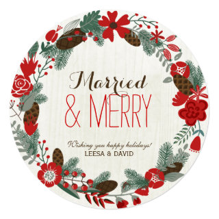 Newly Wed Christmas Cards