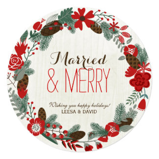 Browse the Married and Merry Wedding Invitations Collection and personalise by colour, design or style.