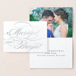 Married & Bright Christmas Foil Card
