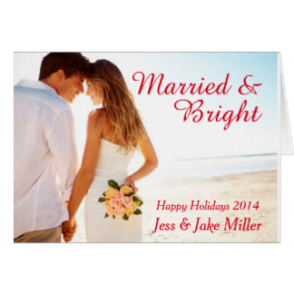 Married & Bright Holiday Card