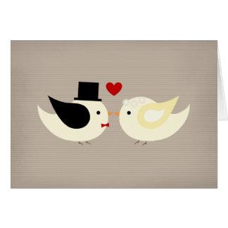 Married Canary Birds Card