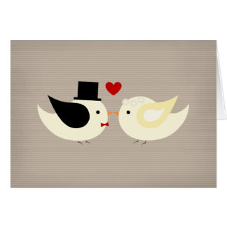 Married Canary Birds Greeting Card