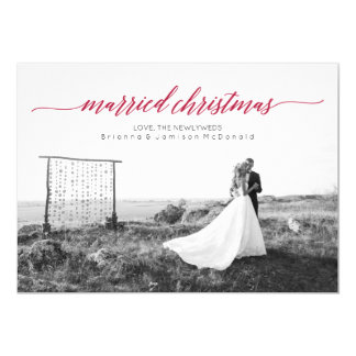 Married Christmas Newlywed Photo 13 Cm X 18 Cm Invitation Card