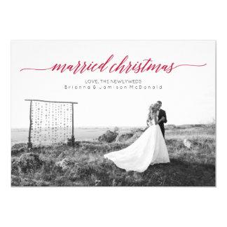 Married Christmas Newlywed Photo 13 Cm X 18 Cm Invitation Card