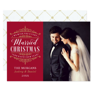 Married Christmas | Newlywed Photo Holiday Card