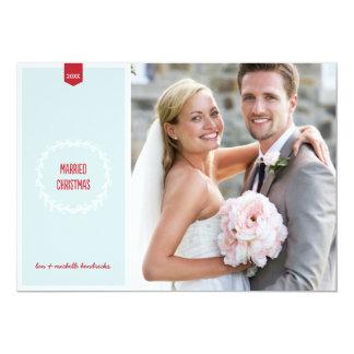 Married Christmas | Newlyweds Holiday Photo Card 13 Cm X 18 Cm Invitation Card