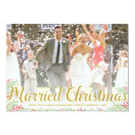 Married Christmas | Newlyweds Holiday Photo Card Personalised Invite