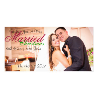 Married Christmas Personalized Photo Card
