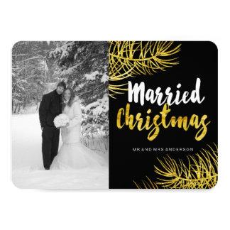 Married Christmas Photo Cards 11 Cm X 16 Cm Invitation Card