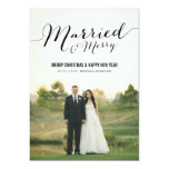 Married Christmas Photo Flat Cards Personalized Invitation