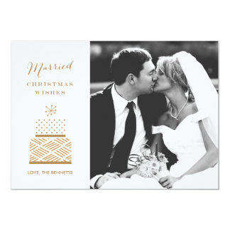 Married Christmas Wishes Photo Christmas Card 13 Cm X 18 Cm Invitation Card