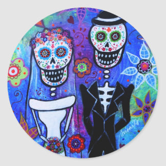 Married Coouple Classic Round Sticker