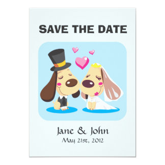 Married Dog Couple Card