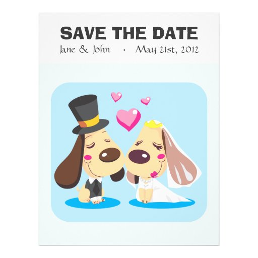 Married Dog Couple Full Color Flyer