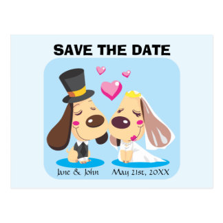 Married Dog Couple Postcard