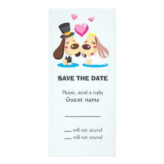 Married Dog Couple Rack Card Design