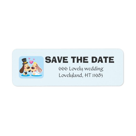 Married Dog Couple Return Address Label