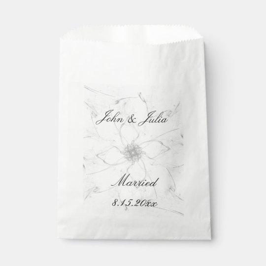Married Flower Stencil Favour Bags